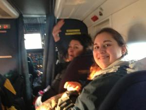 Kate and Autumn on the plane