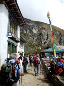 Village on the way to Tengboche (Photo by OMer and Freedom Climber, Nancy Byrne)