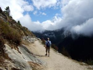 Hiking to Tengboche