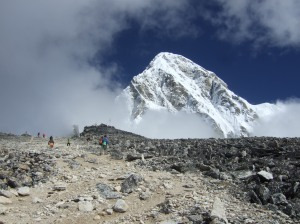 Kala Pattar Peak - with the Himalayas behind