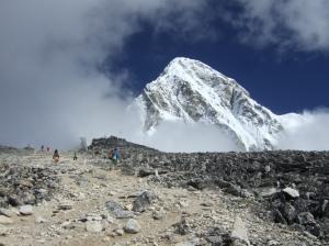 Kala Pattar Peak - with the Himalayas behind