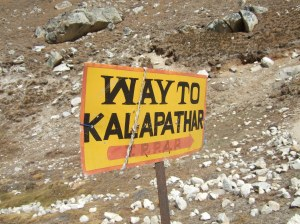 Sign to Kala Pattar (Photo by OMer and Freedom Climber, Nancy Byrne)