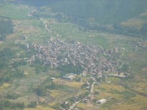 Kathmandu from the air on the way to Lukla