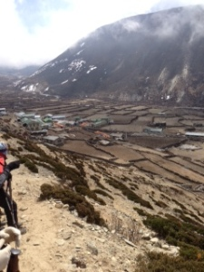 Hiking over Dingboche
