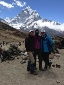 Tina and climbers