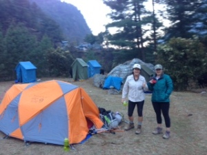 The team's campsite at Namche