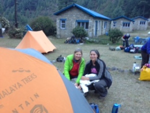 Sarah and Annette at Namche