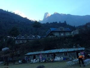 Preparing to leave Phakding